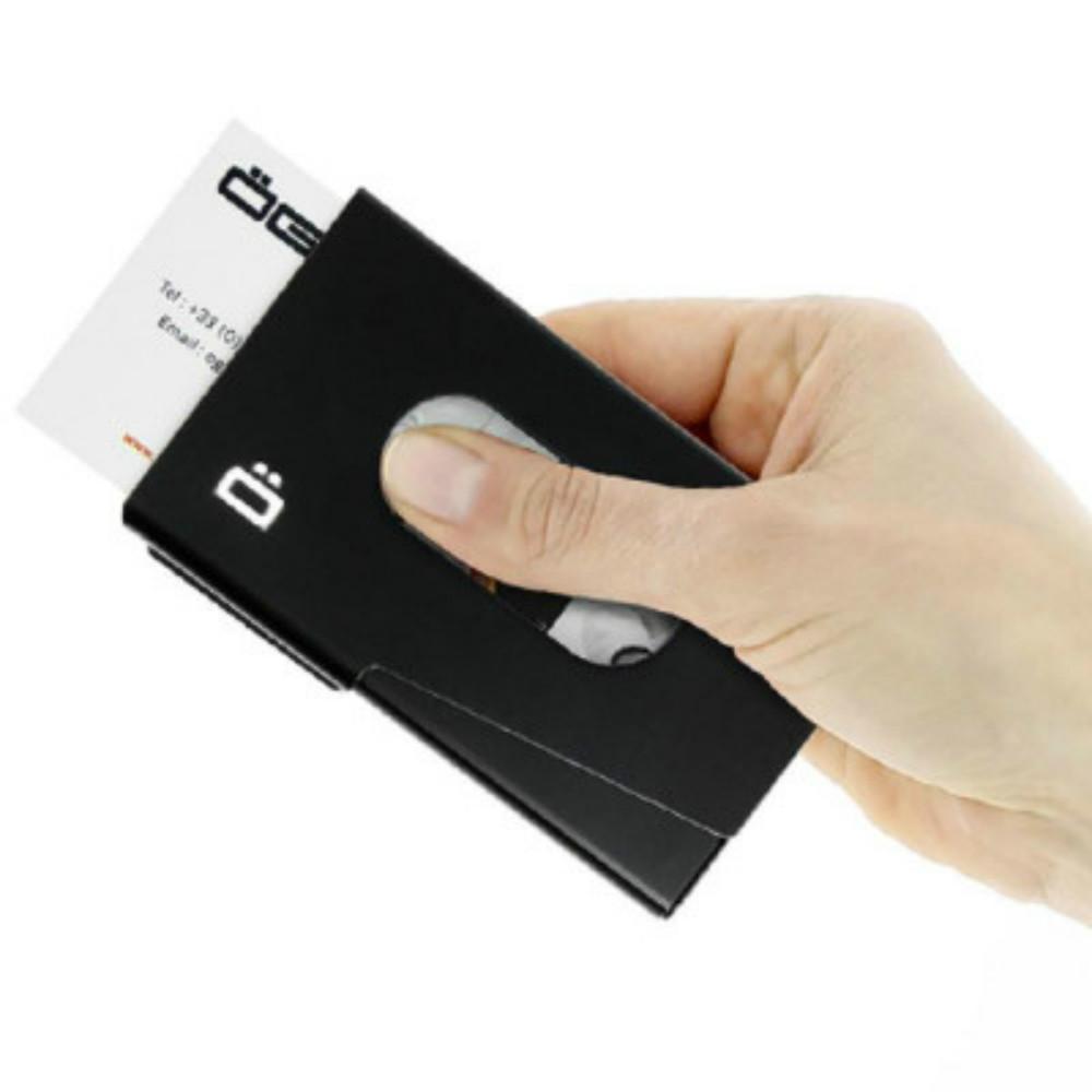 ÖGON|One-Touch RFID 安全防盜名片夾-Black 黑色