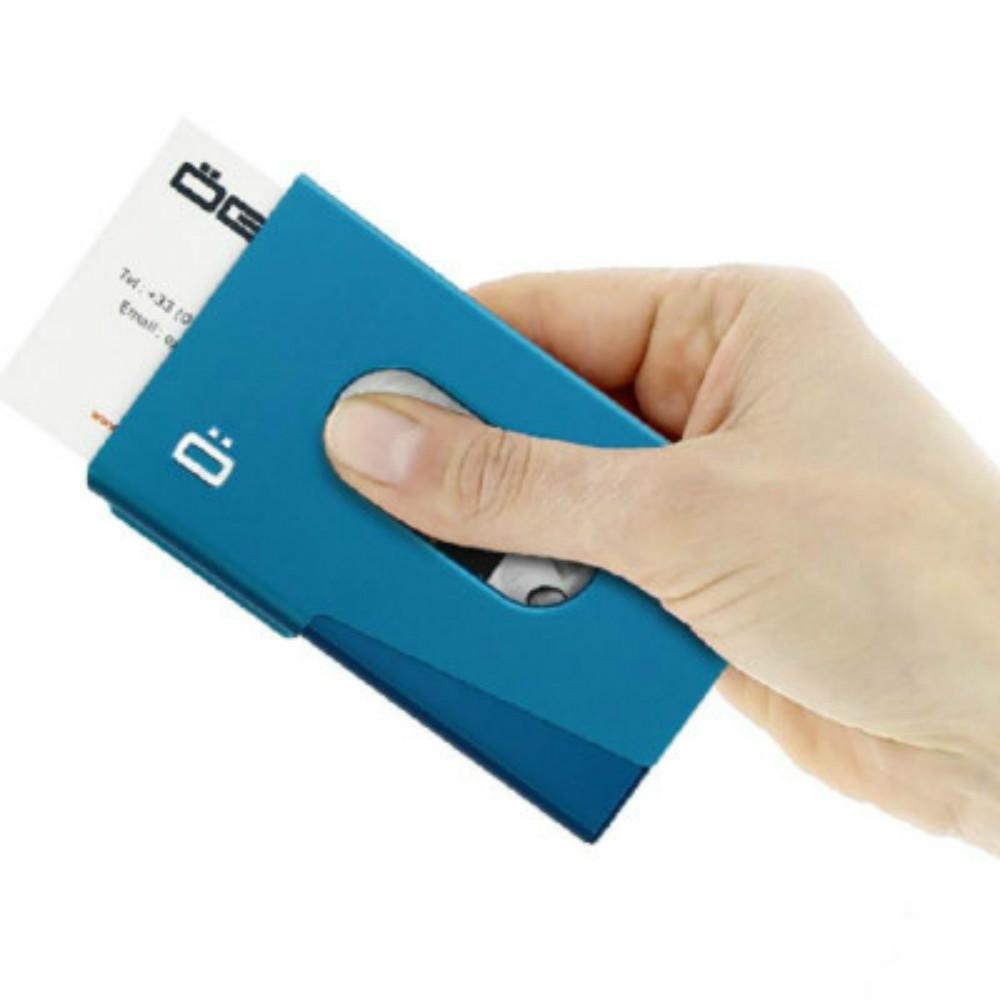 ÖGON|One-Touch RFID安全防盜名片夾-Blue 藍色
