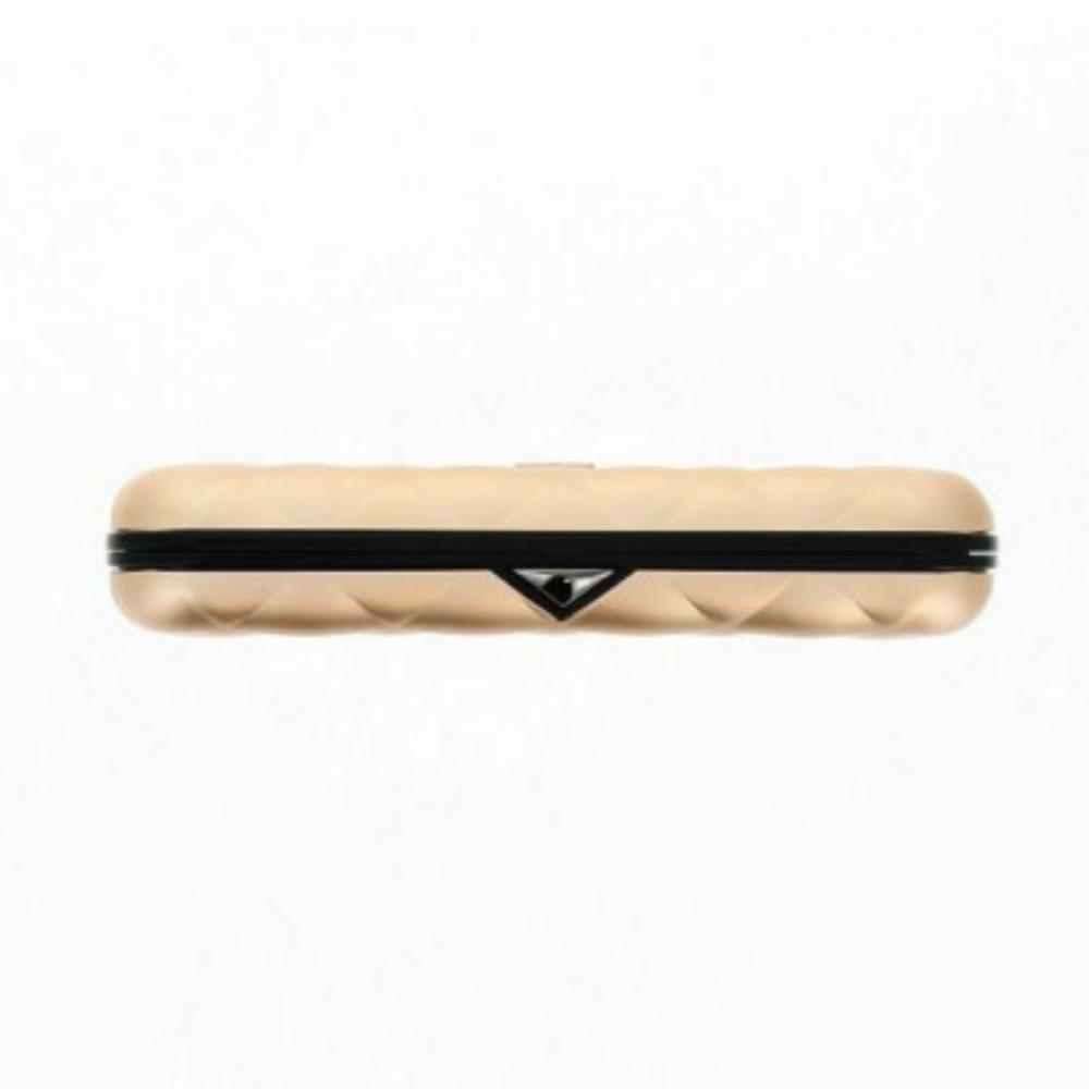 ÖGON|Quilted Button RFID 安全防盜菱格紋卡匣-Rose Gold 玫瑰金