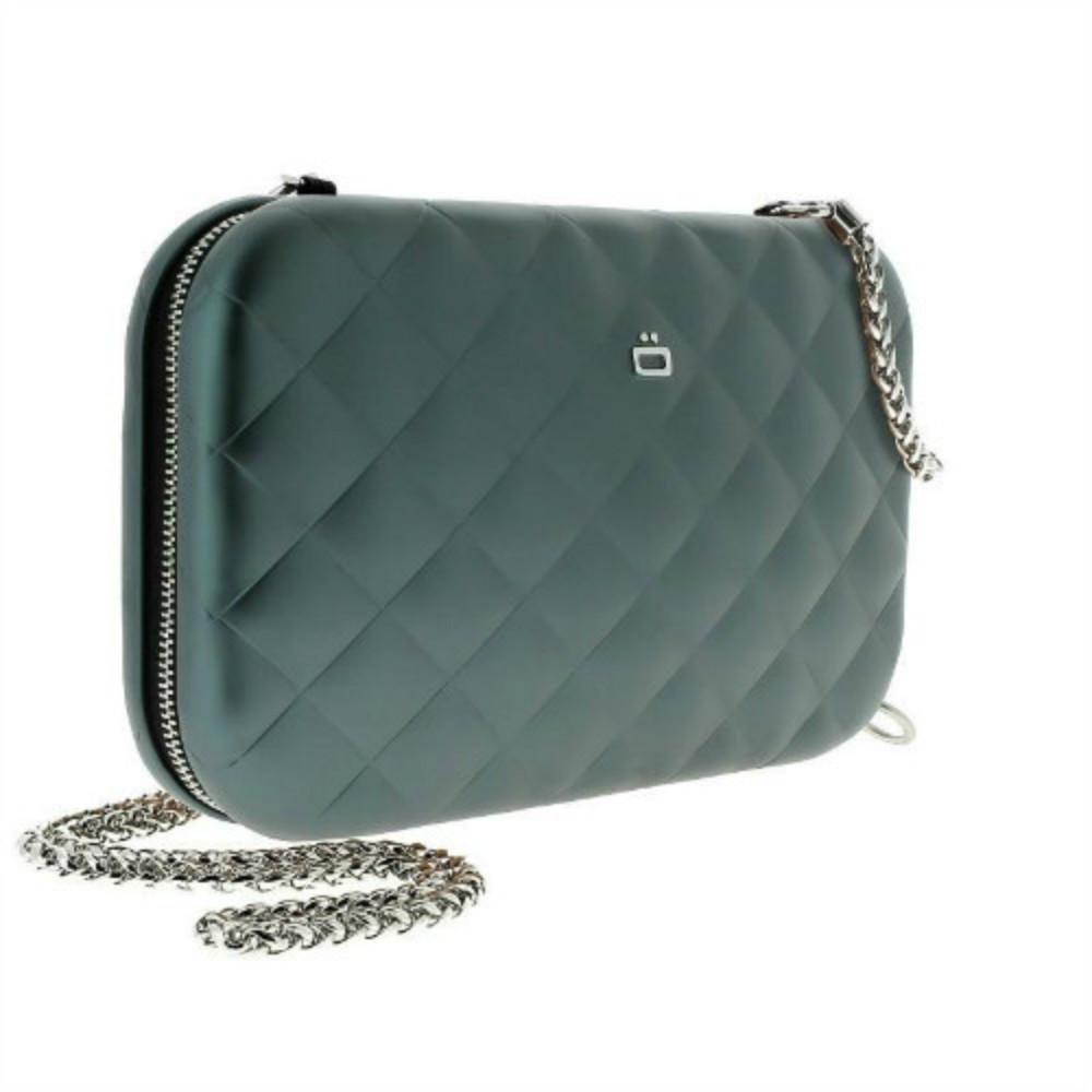 ÖGON|Quilted Lady Bag RFID 安全防盜菱格紋女用包-Platinium 鈦灰色