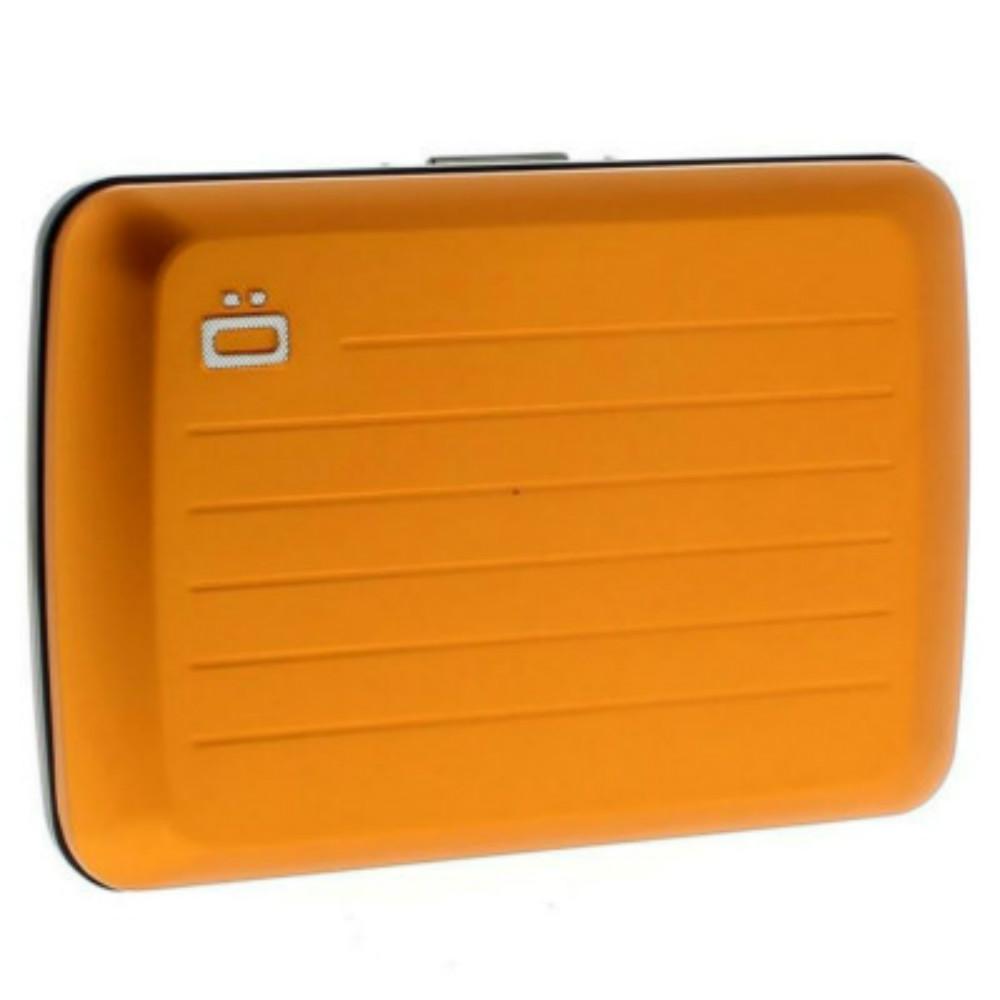 ÖGON|Stockholm V2 RFID 安全防盜鋁製錢包-Orange 橘色