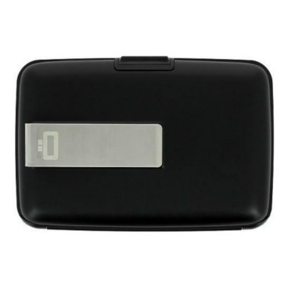 ÖGON|Stockholm RFID 安全防盜鈔票夾錢包-Black 黑色