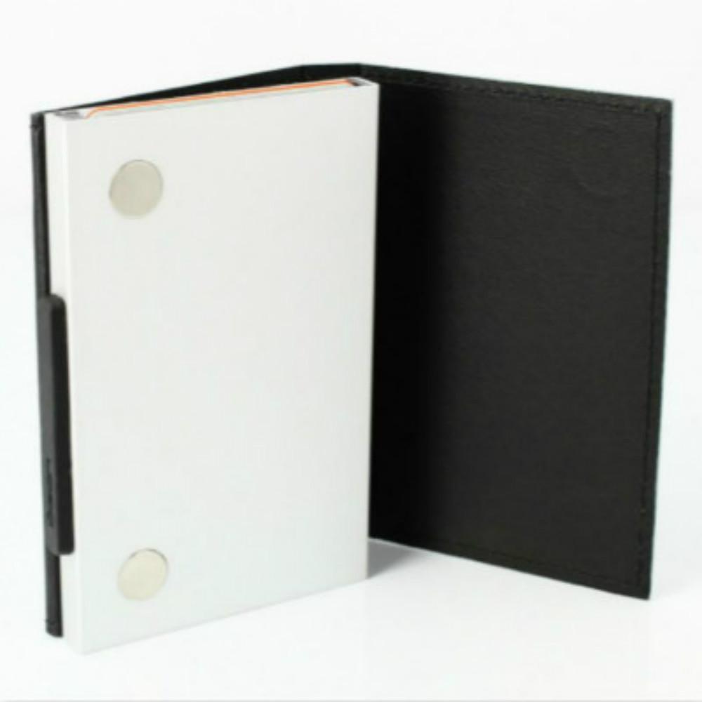 ÖGON|Cascade Wallet RFID 安全防盜真皮三摺錢包-Black Leather 黑色真皮