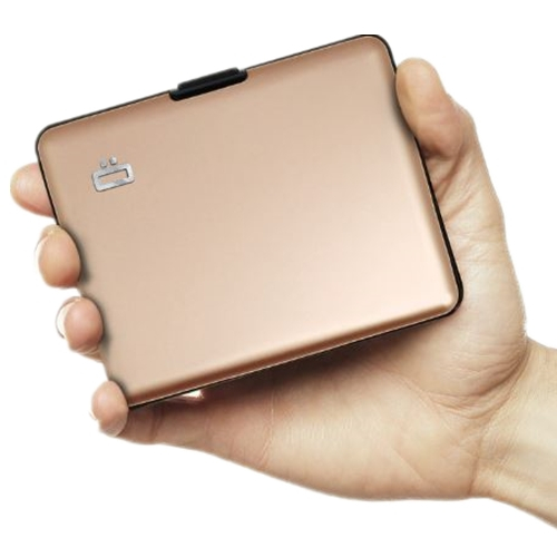 ÖGON Big Stockholm RFID 安全防盜經典錢包-Rose-Gold 玫瑰金色
