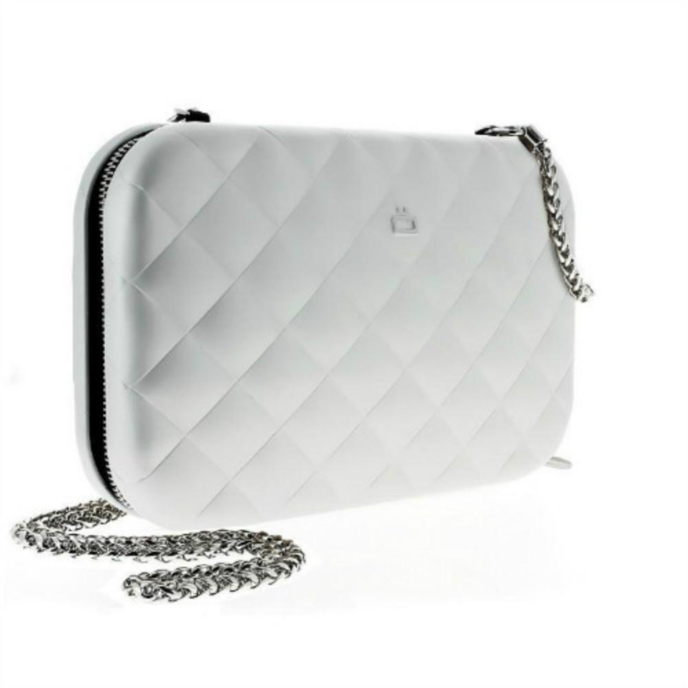 ÖGON|Quilted Lady Bag RFID 安全防盜菱格紋女用包-Silver 銀色