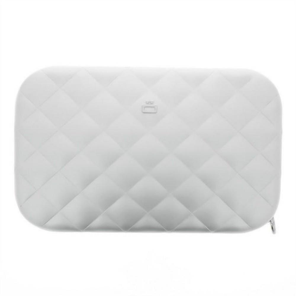 ÖGON|Quilted Lady Bag RFID安全防盜菱格紋女用包(銀色)