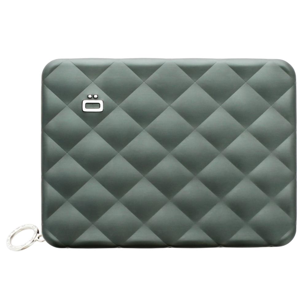 ÖGON|Quilted Passport Wallet RFID 安全防盜菱格紋護照夾-Platinium 鈦灰色
