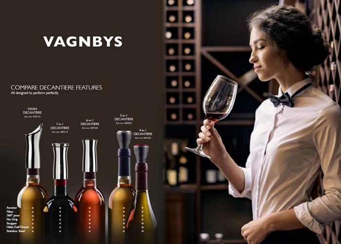 丹麥 VAGNBYS│三合一醒酒注酒封酒器(典雅銀)