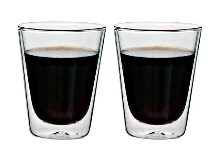 (複製)iLoveGlass │雙層隔冰熱玻璃曲線杯 230ml (2入)