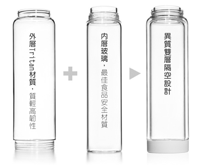 美國 Glasstic│安全防護玻璃水瓶470ml經典款-掀蓋黑