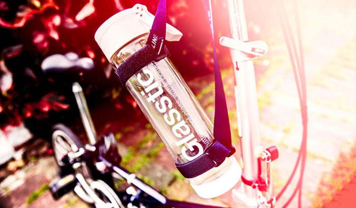 美國 Glasstic │安全防護玻璃運動水瓶470ml經典款-掀蓋藍