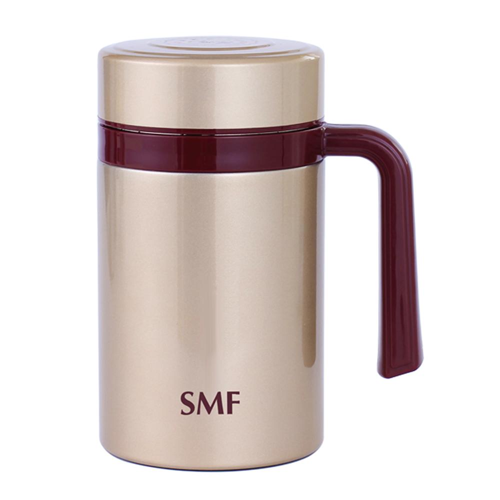 SMF│骨瓷真空保溫杯(璀璨金 475ml 握把系列)