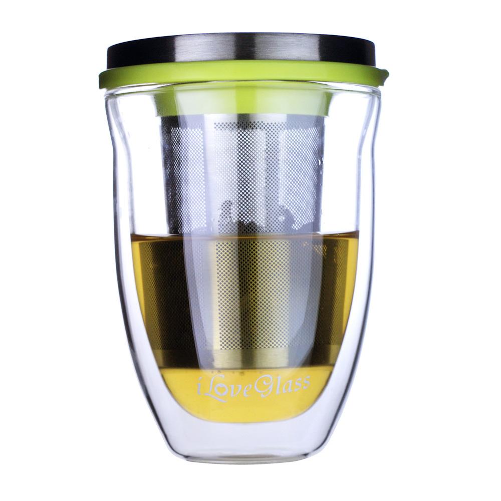 iLoveGlass │ 雙層玻璃泡茶杯組 300ml