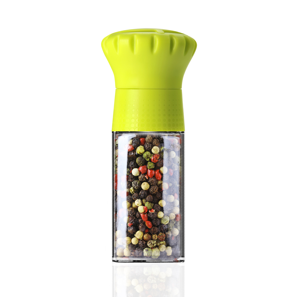 MIX │ 丹麥CROWN可調式胡椒研磨瓶100ml-萊姆黃