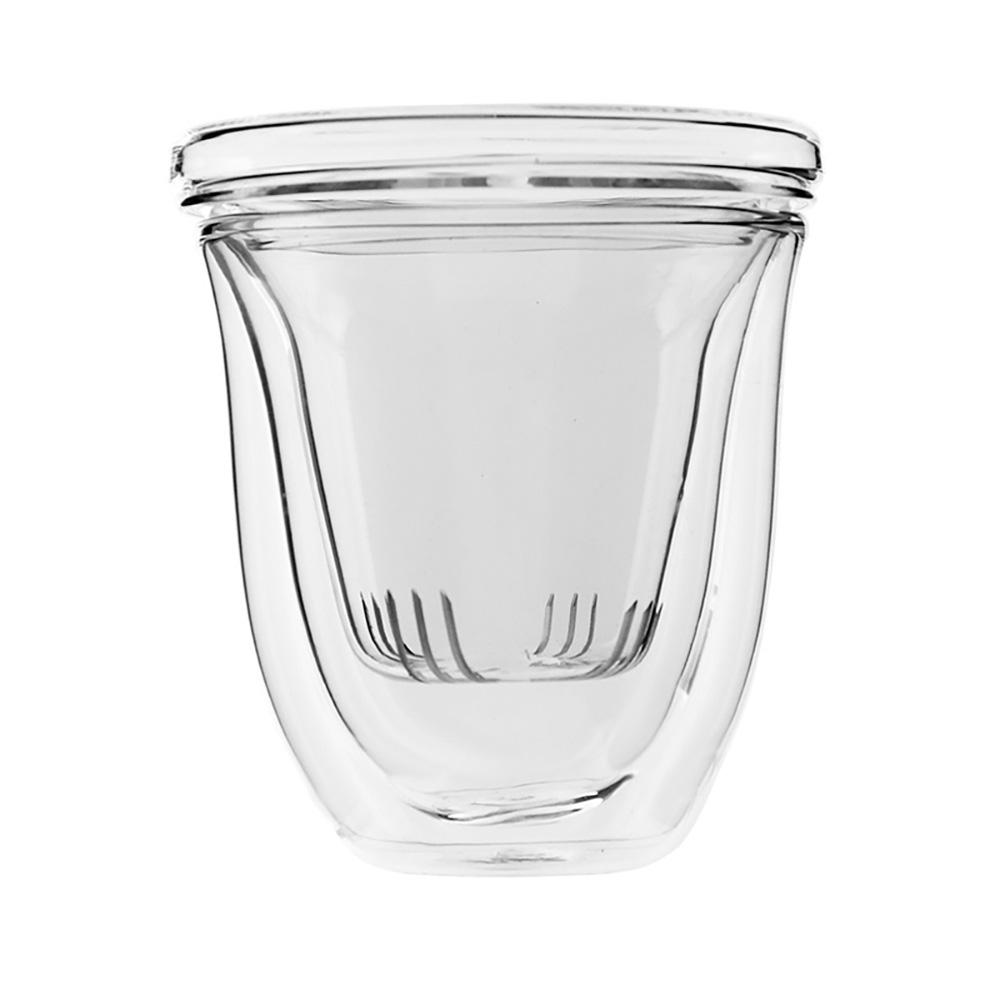 iLoveGlass │ 雙層玻璃泡茶濾茶組230ml (含玻璃濾茶器)