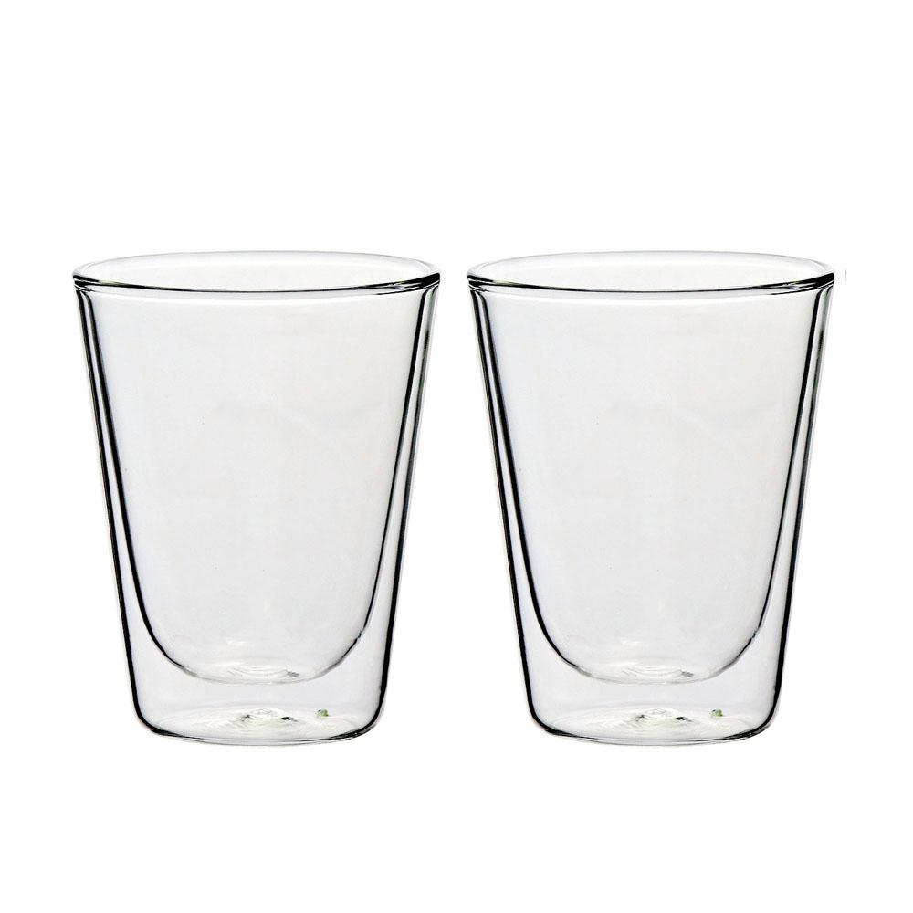 iLoveGlass │雙層隔冰熱玻璃咖啡杯 200ml (2入)