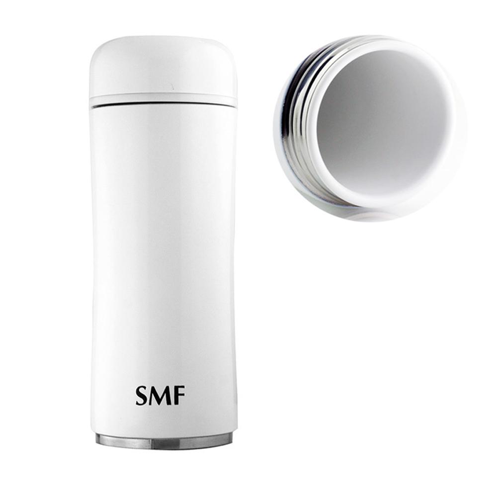 SMF│骨瓷保溫杯350ml-純粹白(蘑菇款) (雙重送)密封保鮮瓶+專用帆布束口袋