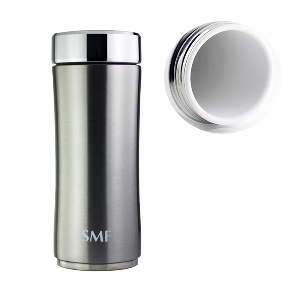 SMF│鋅時尚骨瓷保溫杯350ml-星曜銀 (雙重送)密封保鮮瓶+專用帆布束口袋