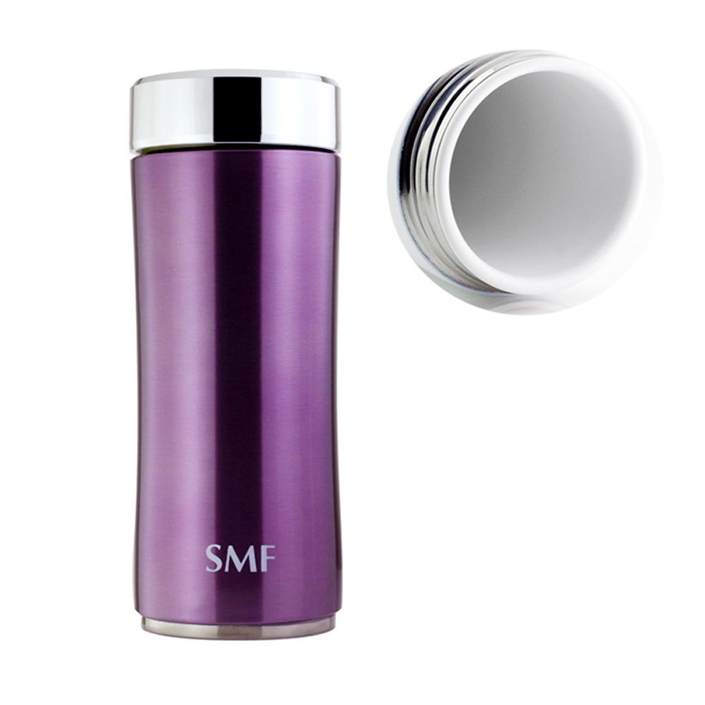 SMF│鋅時尚骨瓷保溫杯350ml-羅蘭紫 (雙重送)密封保鮮瓶+專用帆布束口袋