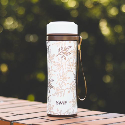 SMF 提繩防摔骨瓷保溫杯420ml 紫丁香葉 (限量紀念款)