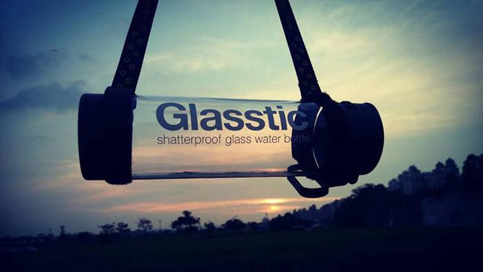 (複製)美國 Glasstic 安全防護玻璃運動水瓶470ml經典款-掀蓋白