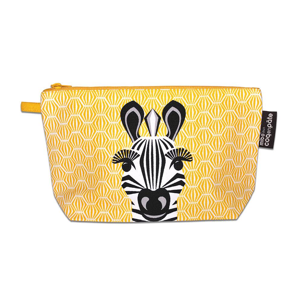 COQENPATE│法國有機棉無毒環保化妝包 / 筆袋- 畫筆兒的家 - 斑馬