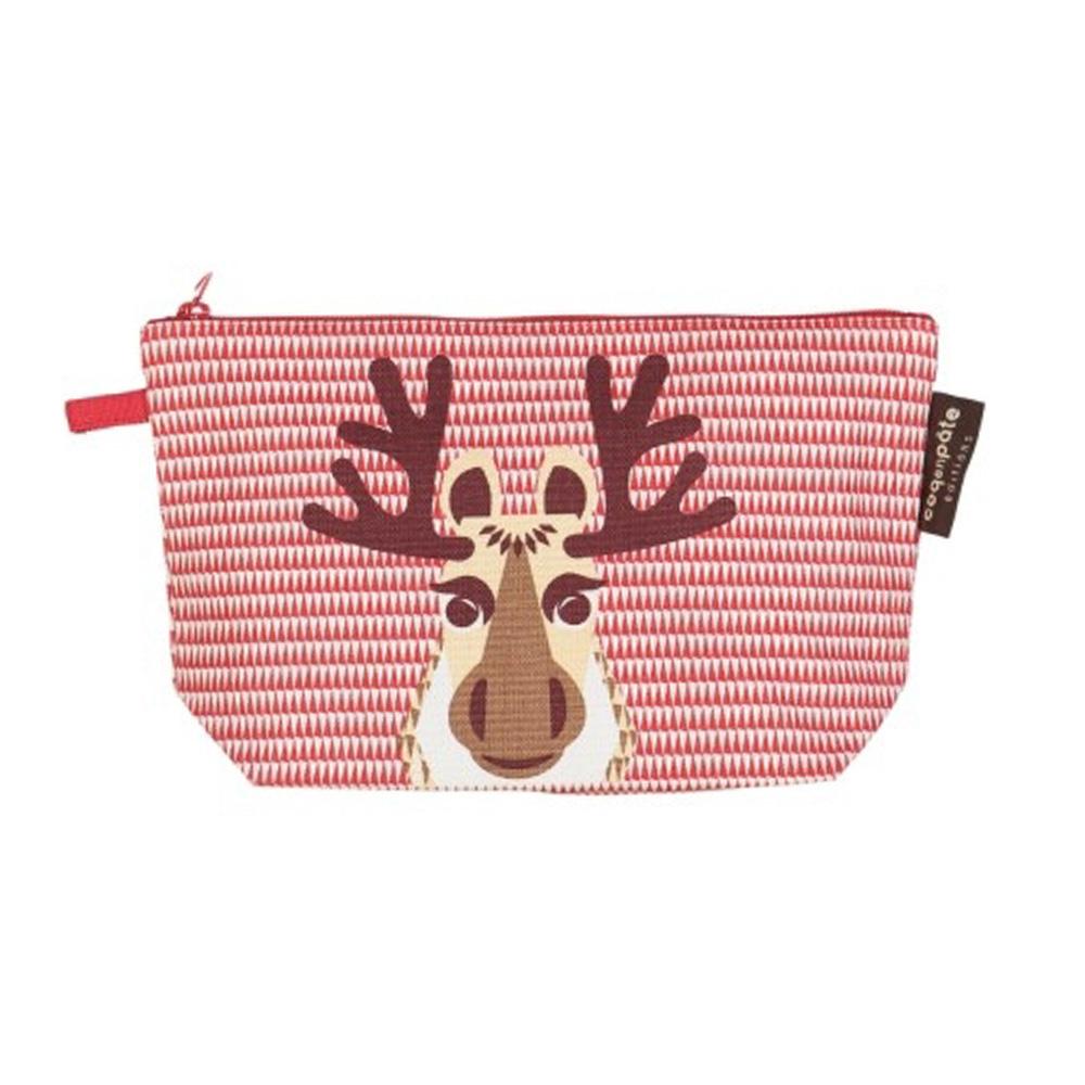 COQENPATE│法國有機棉無毒環保化妝包 / 筆袋- 畫筆兒的家 - 麋鹿