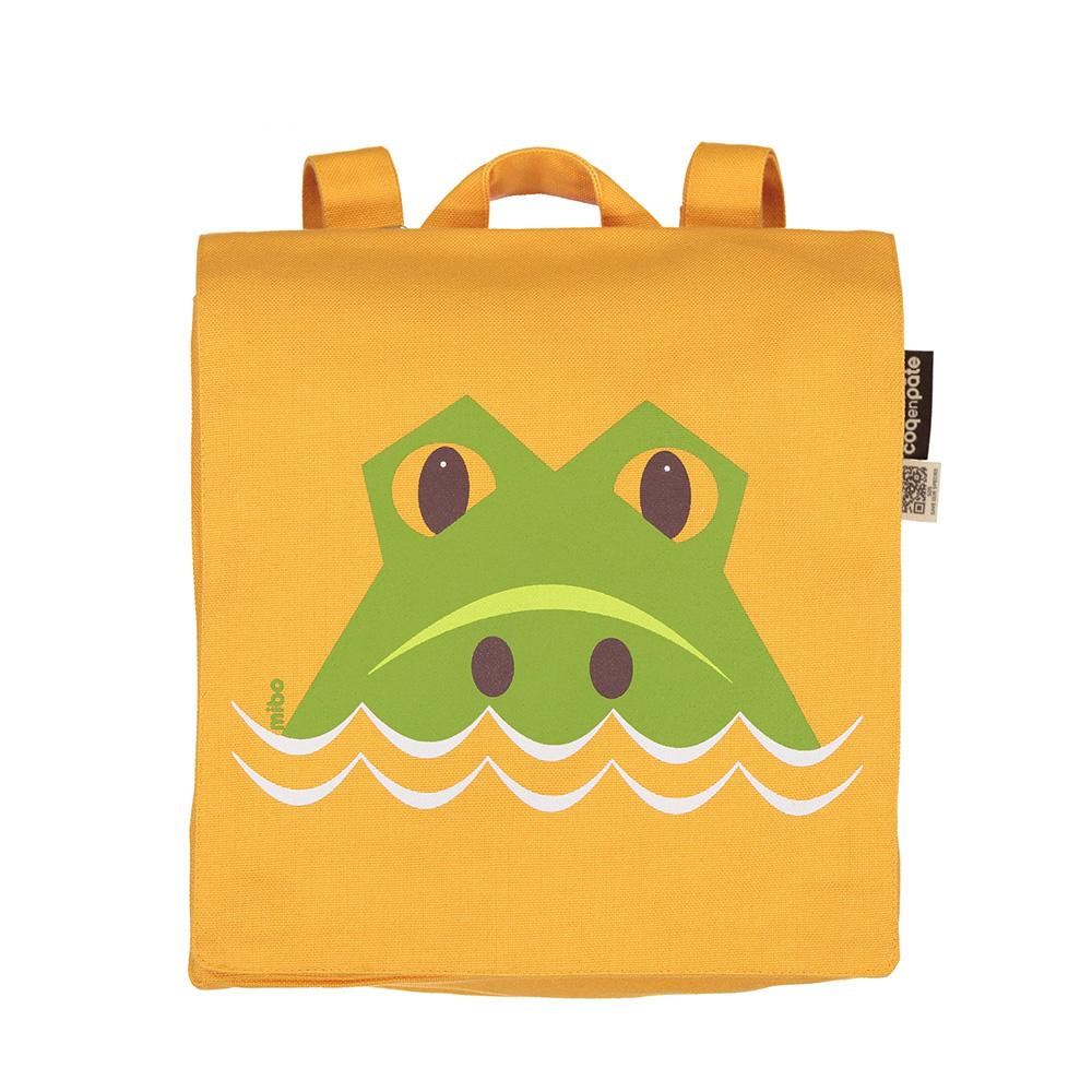 COQENPATE│法國有機棉無毒環保布包 / 小童寶包幫- 鱷魚
