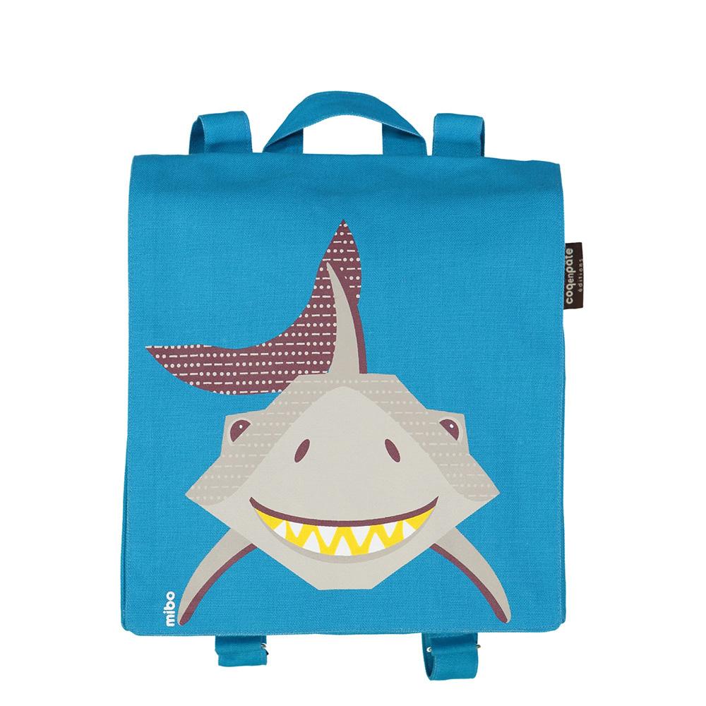 COQENPATE│法國有機棉無毒環保布包 / 小童寶包幫- 鯊魚