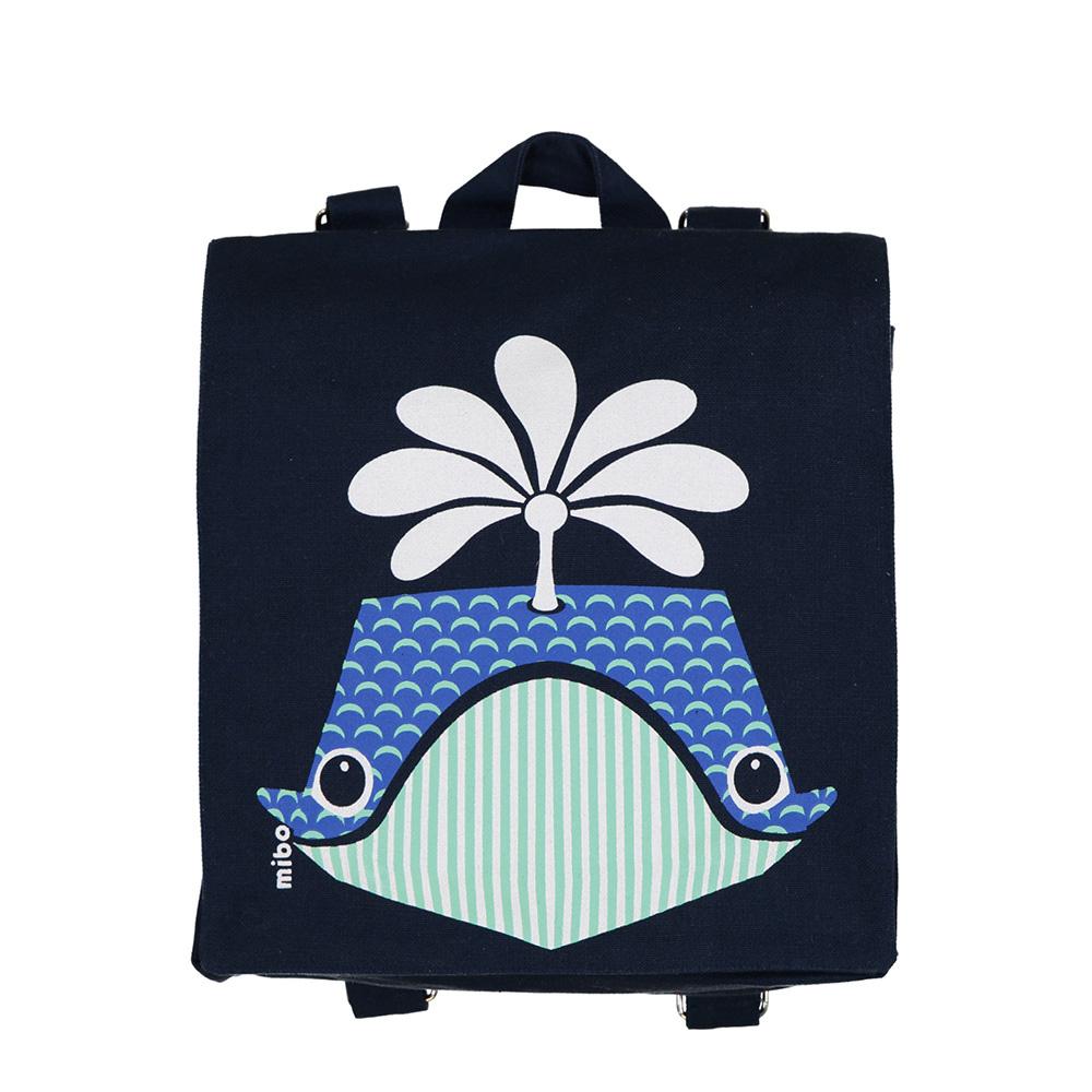 COQENPATE│法國有機棉無毒環保布包 / 小童寶包幫- 鯨魚