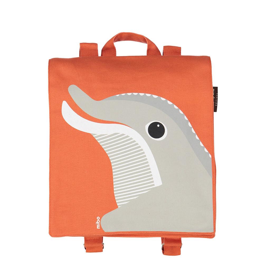 COQENPATE│法國有機棉無毒環保布包 / 小童寶包幫- 海豚