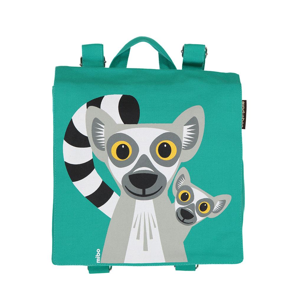 COQENPATE│法國有機棉無毒環保布包 / 小童寶包幫- 狐猴