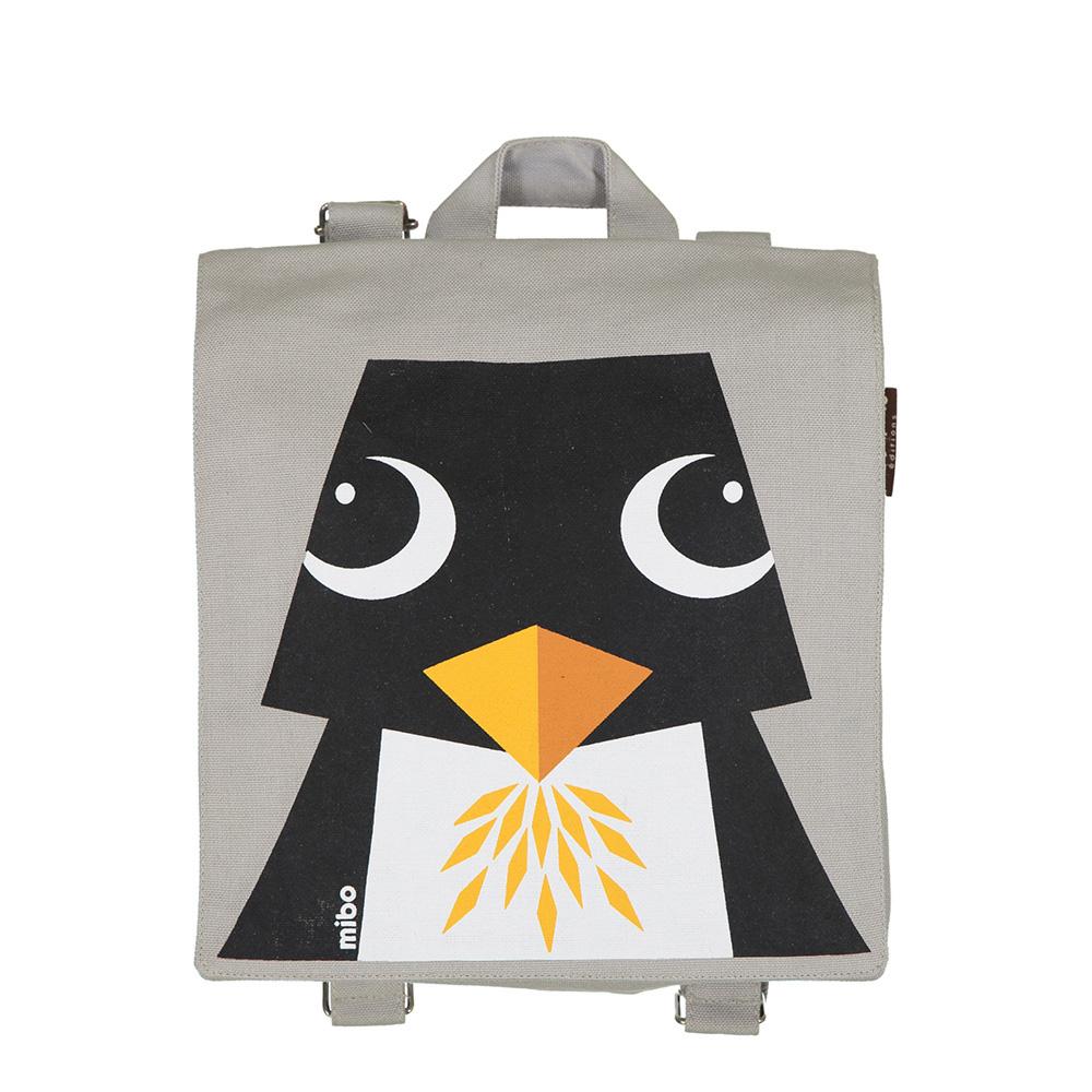 COQENPATE│法國有機棉無毒環保布包 / 小童寶包幫- 企鵝