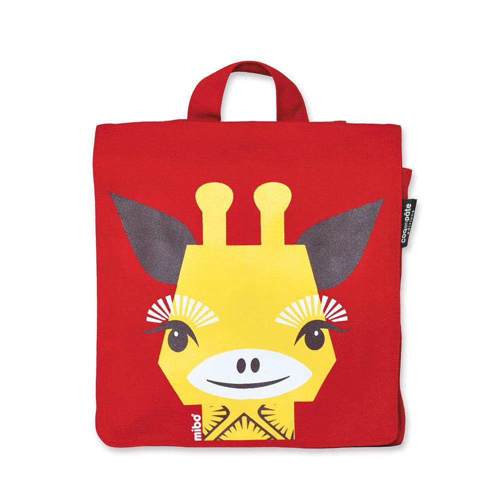 COQENPATE│法國有機棉無毒環保布包 / 小童寶包幫- 長頸鹿