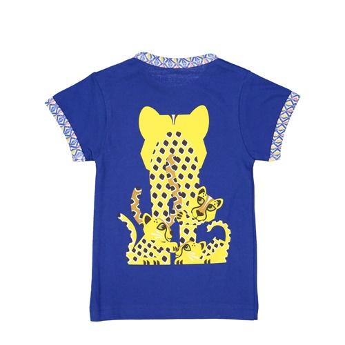 COQENPATE│法國有機棉童趣 短袖 T-SHIRT - 獵豹