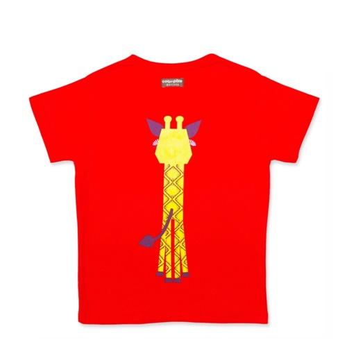 COQENPATE│法國有機棉童趣 短袖 T-SHIRT - 長頸鹿