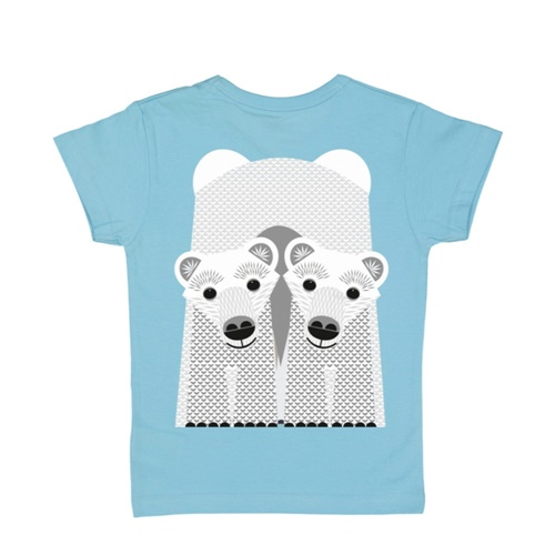 COQENPATE│法國有機棉童趣 短袖 T-SHIRT - 北極熊