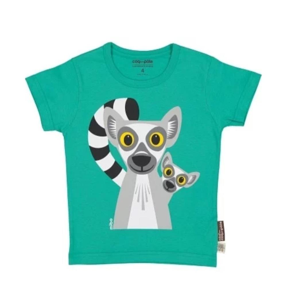 COQENPATE│法國有機棉童趣 短袖 T-SHIRT - 狐猴