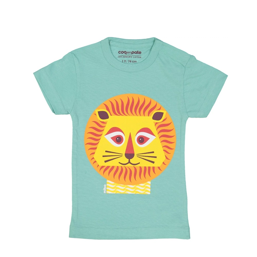 COQENPATE│法國有機棉童趣 短袖 T-SHIRT - 獅子