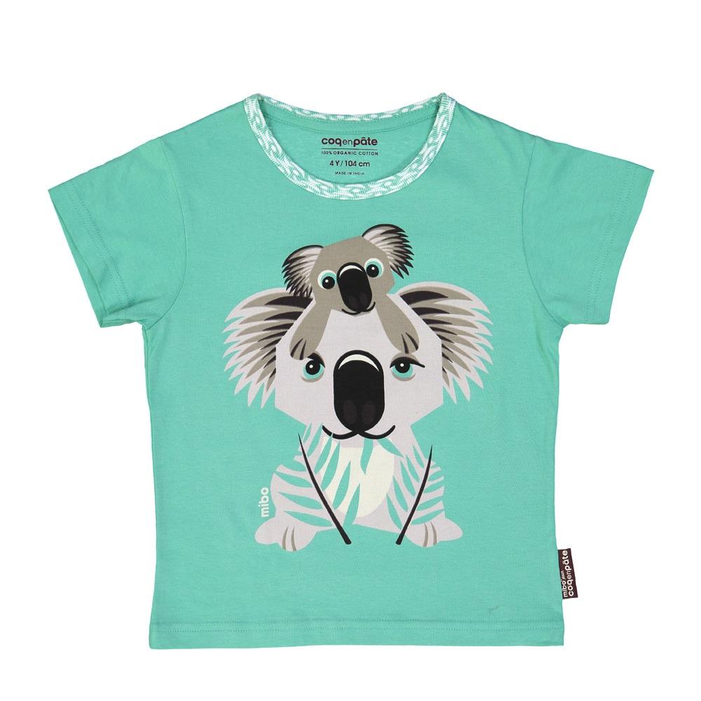 COQENPATE│法國有機棉童趣 短袖 T-SHIRT - 無尾熊