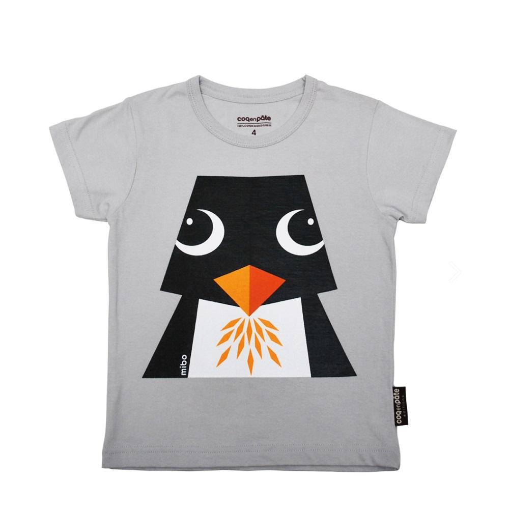 COQENPATE│法國有機棉童趣 短袖 T-SHIRT - 企鵝