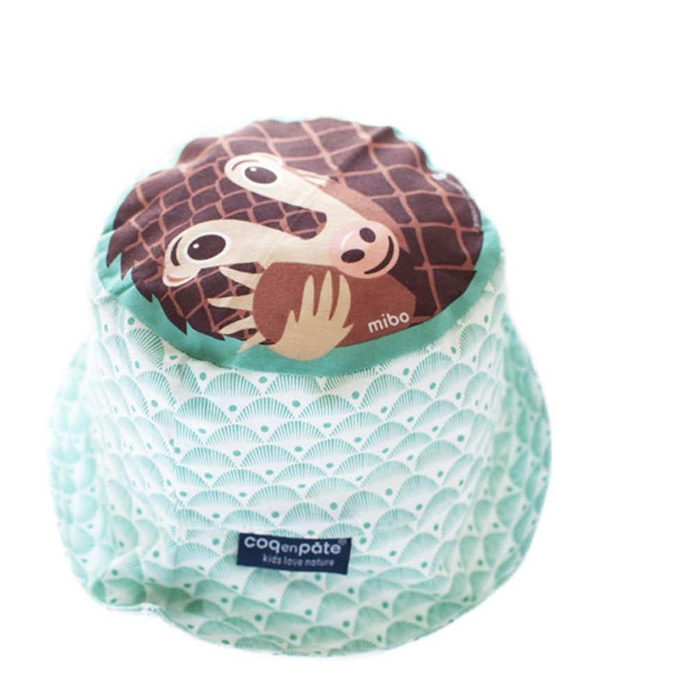 COQENPATE│法國有機棉無毒環保系列 夏日遮陽帽 - 穿山甲