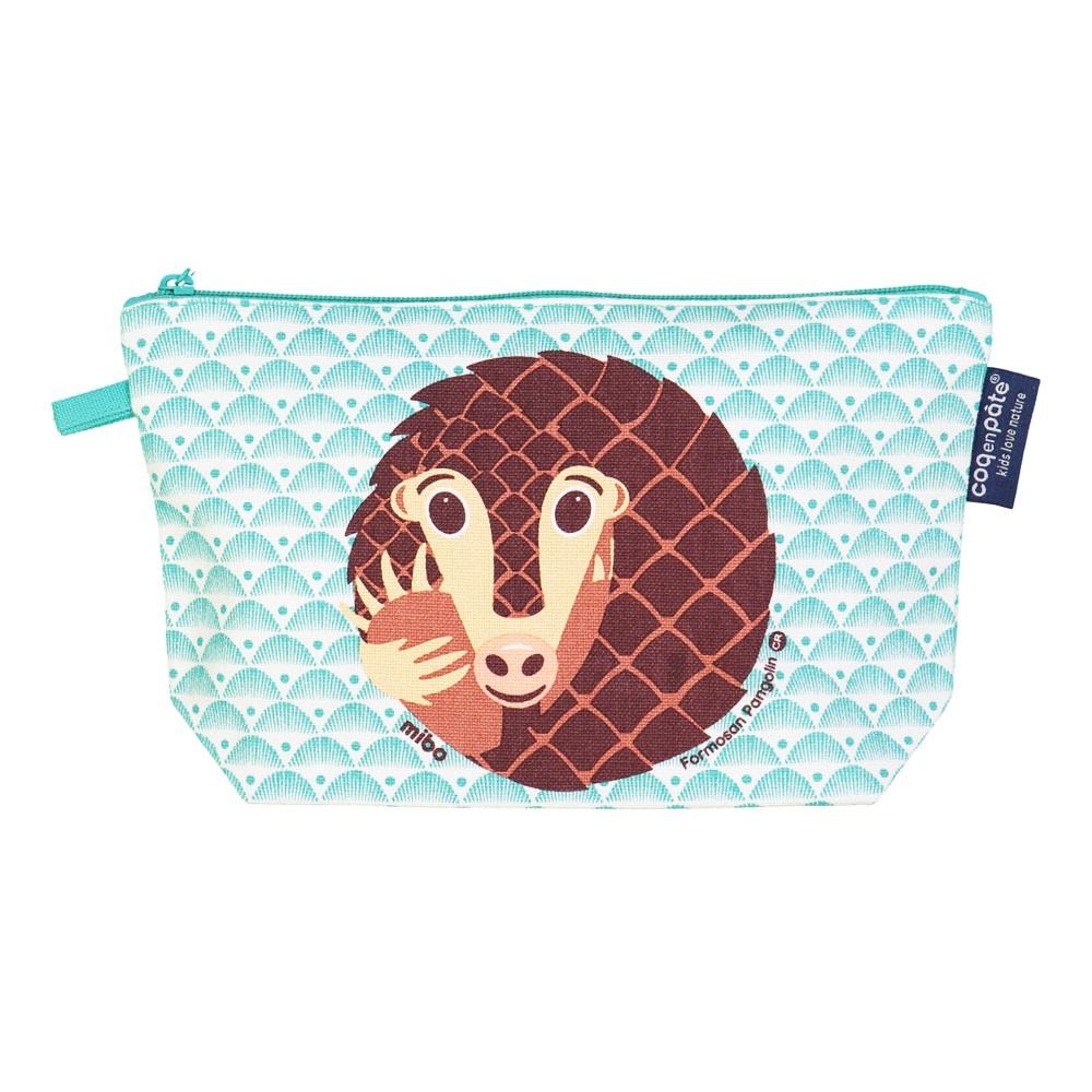 COQENPATE│法國有機棉無毒環保化妝包 / 筆袋- 畫筆兒的家 - 穿山甲