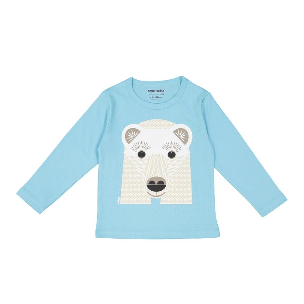 COQENPATE│有機棉童趣 長袖 T-SHIRT - 北極熊