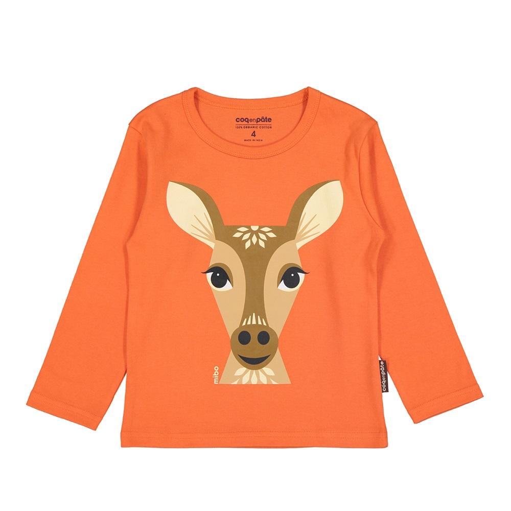 COQENPATE│有機棉童趣 長袖 T-SHIRT - 鹿
