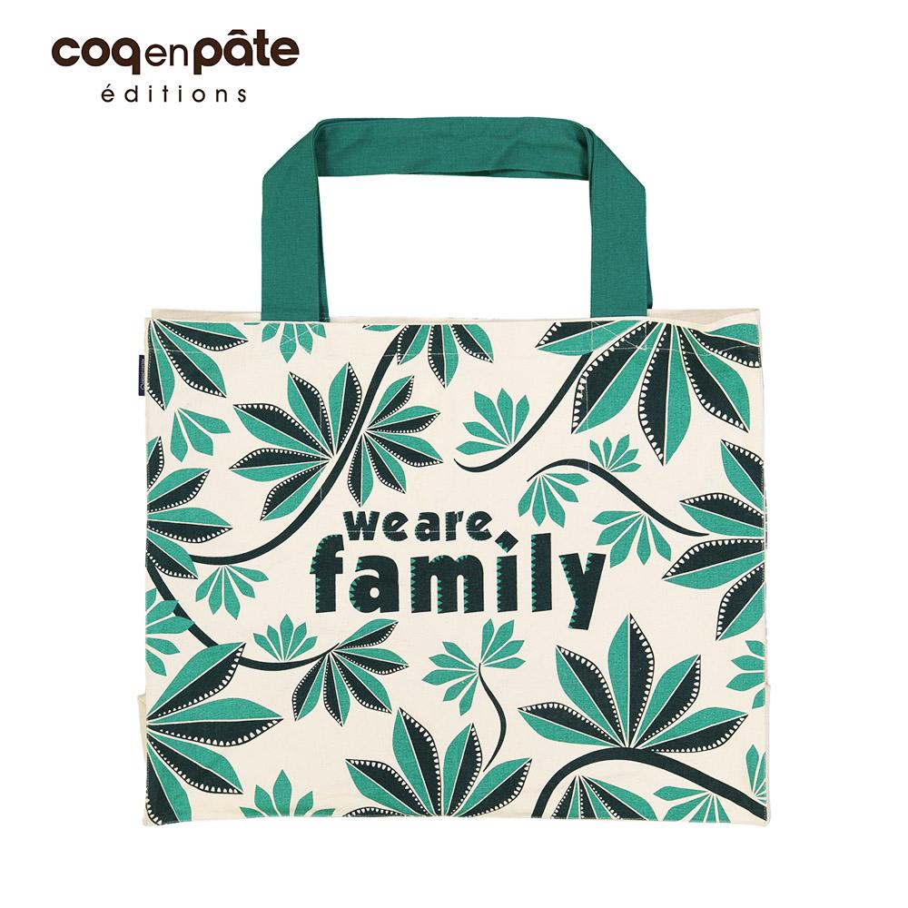 COQENPATE│法國有機棉無毒環保布包-無敵購物袋 / We are family_森林系列