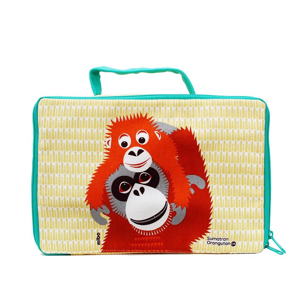COQENPATE│法國有機棉無毒環保布包 / 方方兒拎出門 - 紅毛猩猩
