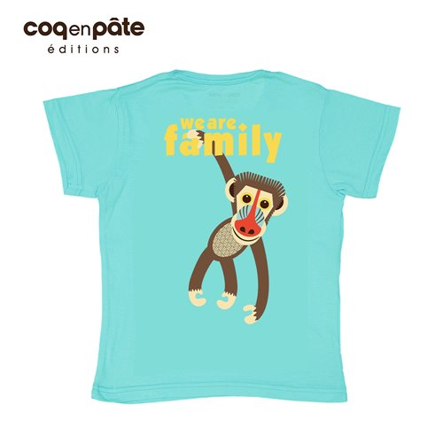 COQENPATE│法國有機棉童趣 短袖 T-SHIRT - 山魈