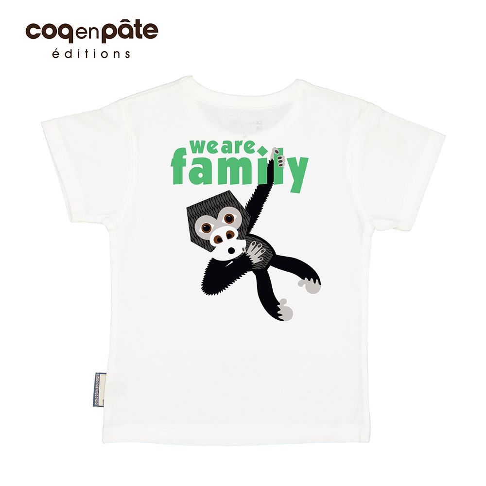 COQENPATE│法國有機棉童趣 短袖 T-SHIRT - 大猩猩