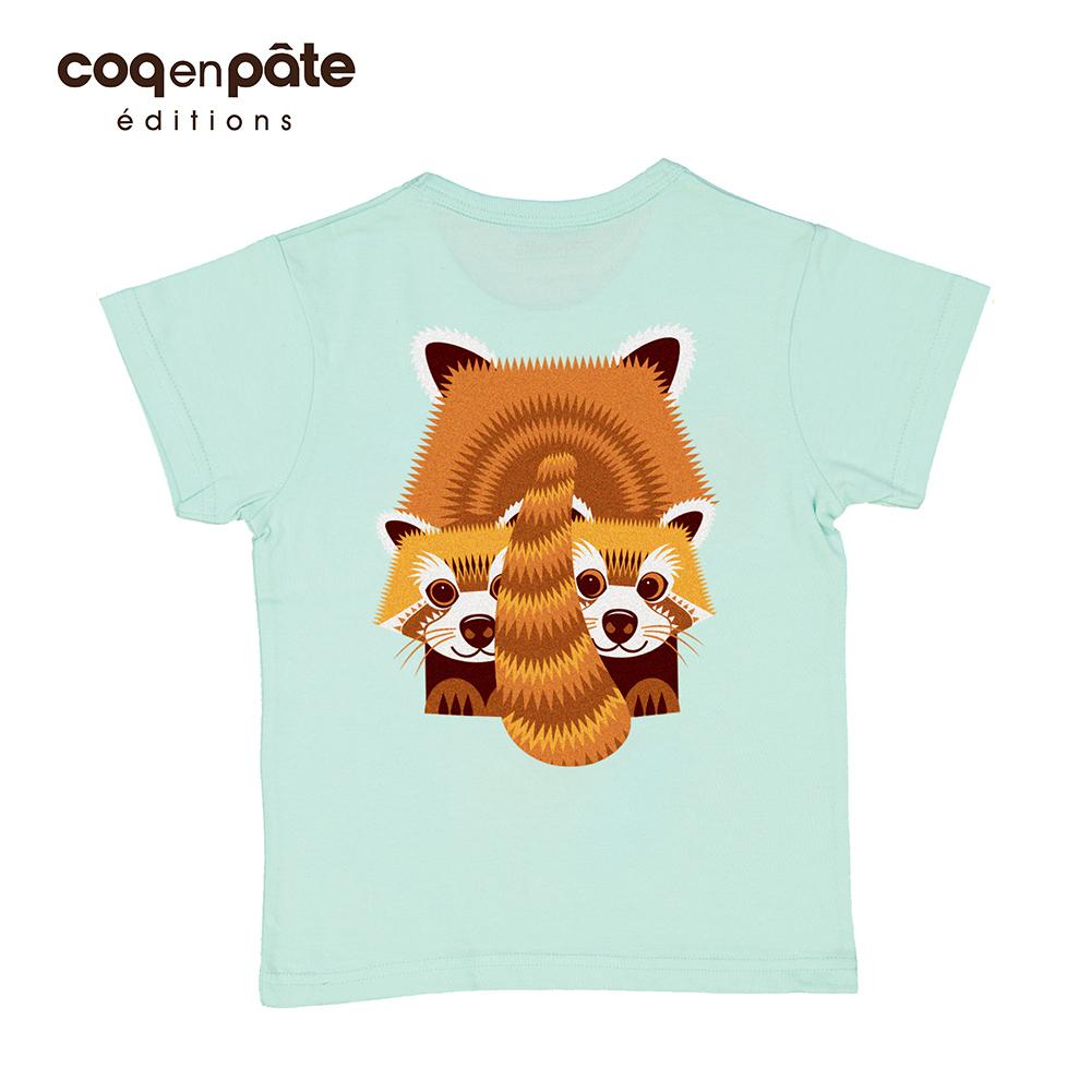 COQENPATE│法國有機棉童趣 短袖 T-SHIRT - 小熊貓